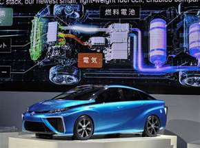 new fuel cell cars toyota shows fuel cell automobile the new york times