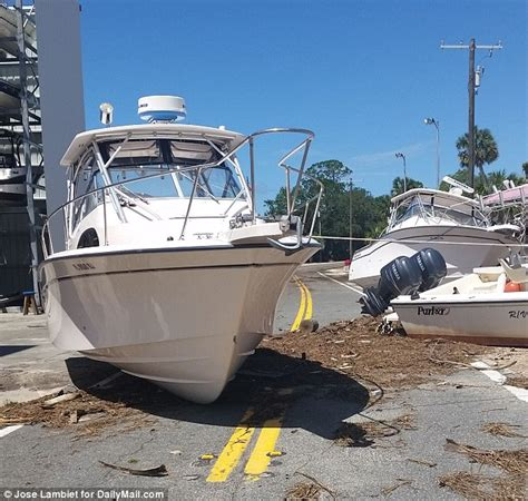 boats after hurricane the florida town which dodged death as hurricane hit