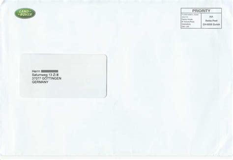 Schweiz Brief Absender Philaseiten De Moderne Postgeschichte Internationales