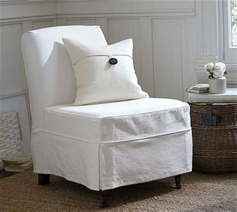 slipper chair cover maxton slipcovered slipper chair denim warm white