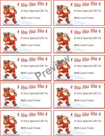 printable christmas present tags from santa printable santa claus gift tags