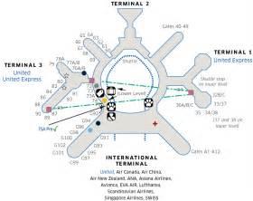 San Francisco International Airport Terminal Map by Pics Photos Terminal Map San Francisco International Airport