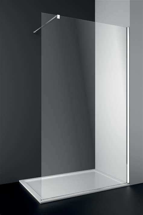 parete vetro doccia cabina parete doccia in cristallo inda modello walk in per