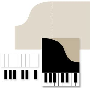 piano template card silhouette design store view design 24811 piano card