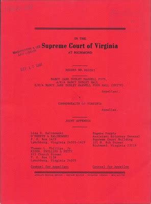 Dudley District Court Records Virginia Supreme Court Records Volume 233 Virginia Supreme Court Records