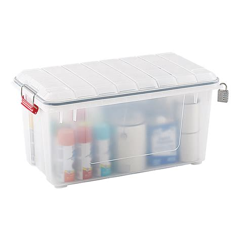weather tight storage containers clear weathertight trunk the container store