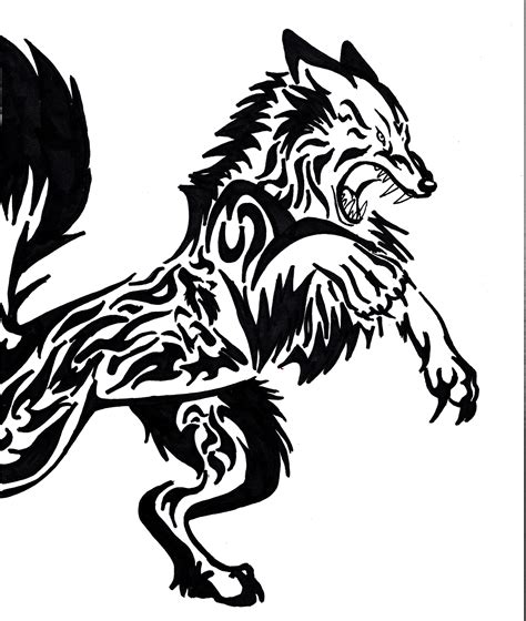tribal wolf tattoos tribal wolf designs