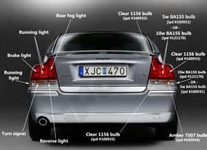 Volvo S60 Bulb Failure Position Light Taillight Bulb Guide P2 S60 2001 2009