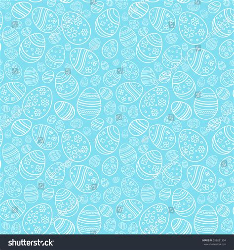 seamless egg pattern vector seamless gentle pattern decorative eggs stock