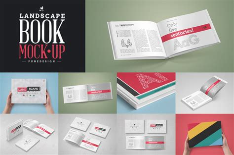 book layout mockup landscape book mock up set product mockups on creative