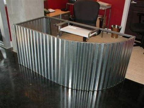 Custom Corrugated Metal Desk   Corrugated Metal