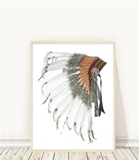 printable native art native american headdress printable art tribal print indian