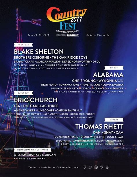 country fan fest 2017 lineup country fest daily lineup front gate tickets