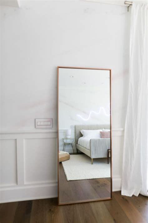 mirror in bedroom 15 chic ways to rock a floor mirror in your home shelterness