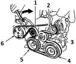 toyota camry serpentine belt wiring diagram
