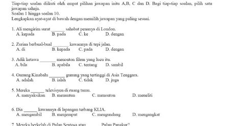 bahasa melayu tingkatan 2 set 2