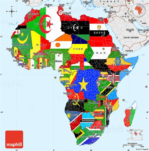 colors of africa flag simple map of africa single color outside borders