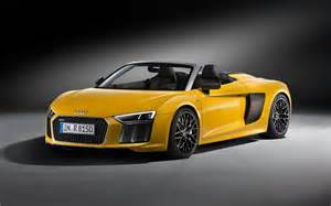 audi r8 spyder open top sports car debuts in new york