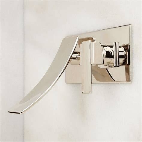 signature hardware maleko wall mount waterfall tub faucet signature hardware reston wall mount waterfall bathroom