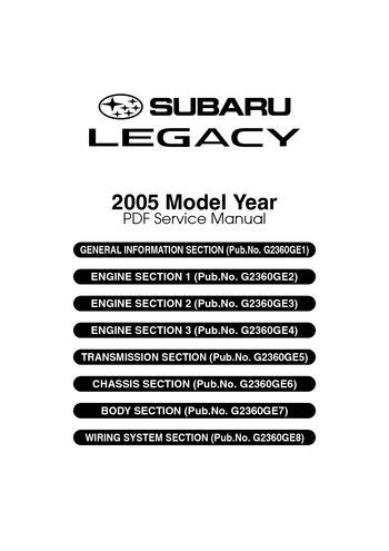 service manual old car manuals online 2005 subaru forester parental controls classic 2005 subaru legacy service manual pdf 4610 pages