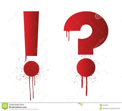 Exclamation Splatter ink splatter exclamation and question stock image