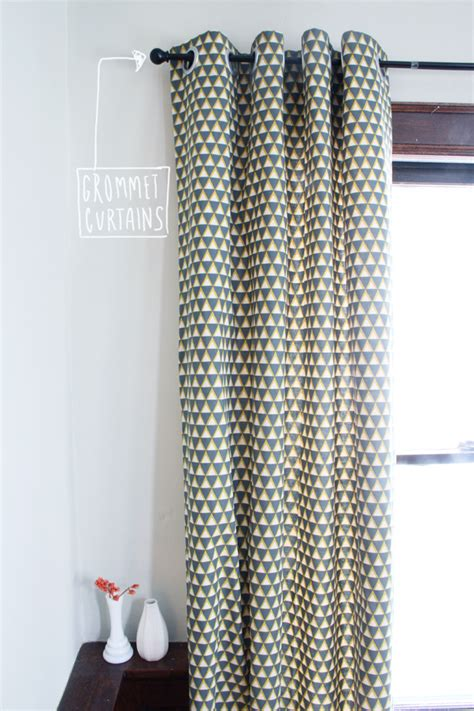 how to make a valance curtain tutorial diy grommet curtains