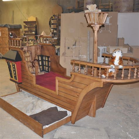 pirate ship twin bed pearl pirate ship bed w trundle crows nest and more