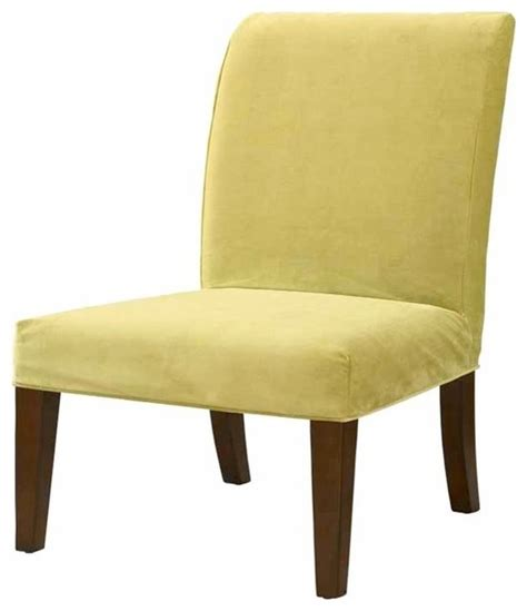 Velvet Dining Chair Covers Slip Slipcover For Dining Chair Basil Green Velvet Traditional Slipcovers And Chair