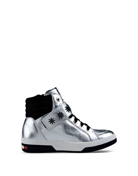 High By Moschino by Lyst Moschino Metallic Leather Starburst High Top