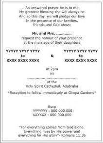 Christian Wedding Invitation Letter Christian Wedding Invitation Wordings Christian Wedding Wordings Christian Wedding Card Wordings