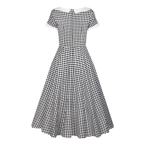 Collectif Mainline Madeline Gingham Swing Dress