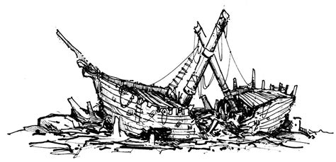how to draw a boat hard image result for shipwreck drawing sunken ships