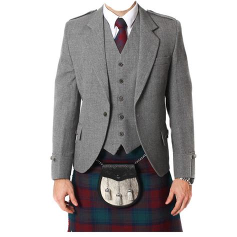 light grey vest and light grey tweed argyle jacket and 5 button vest