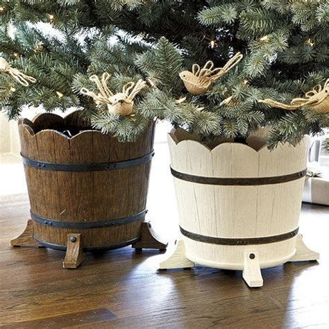 barrel planter christmas tree stand ballard designs