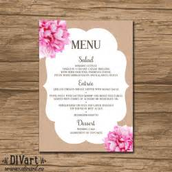 baby shower menu template free items similar to floral bridal shower menu baby shower