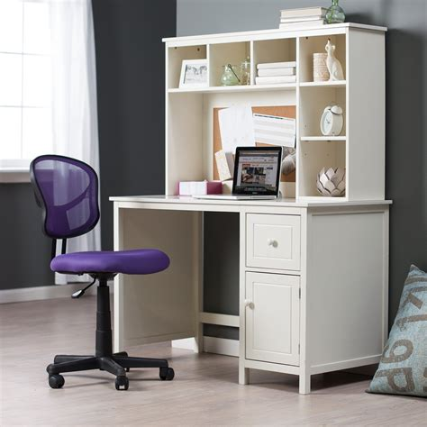 Desks With Storage For Small Spaces Piper Desk With Optional Hutch Set Vanilla Desks At Hayneedle