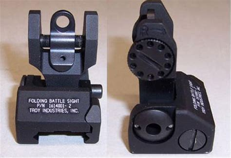 troy industries back up iron sight rear black | pk