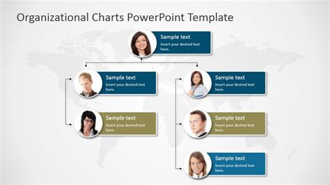 Organizational Charts Powerpoint Template Slidemodel Powerpoint Organization Chart Template