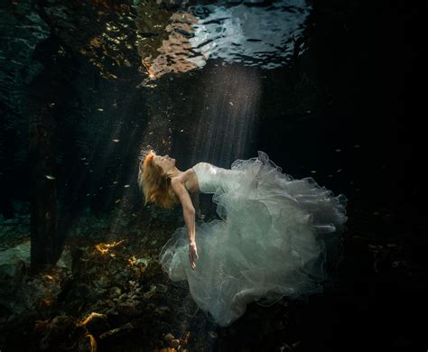 incredible underwater trash the dress photos bridalguide sherry and cyril s riviera mayan cenote trash the dress