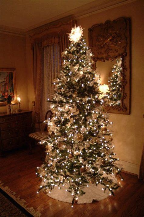 beautiful silver and gold tree christmas pinterest