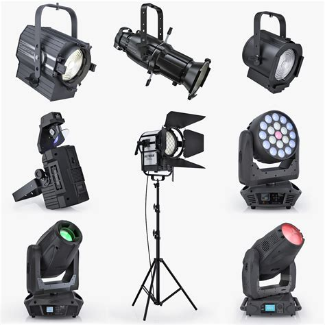 3d Stage Lights Turbo Squid Blue Social Media Piece Types Of Stage Lighting Fixtures