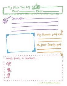 Field Trip Planner Template The Unlikely Homeschool Field Trip Log Printable