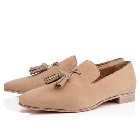 beige loafers mens christian louboutin dada flat beige suede mens loafers