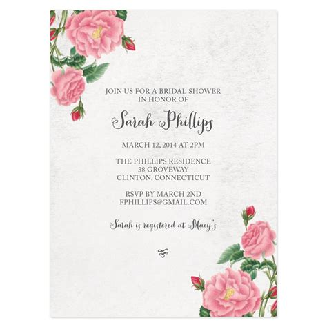 free printable vintage bridal shower invitations bridal shower invitations free vintage and printable