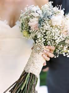 baby s breath bouquets baby s breath bridal bouquet with lace my one day