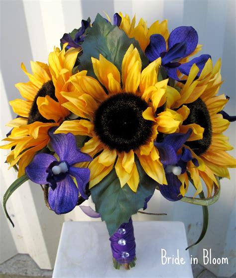 Wedding Bouquets Using Sunflowers by Sunflower Wedding Bouquet In Bloom