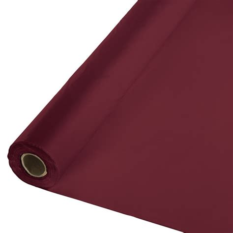 maroon plastic table covers burgundy plastic tablecloth 100 roll burgundy paper