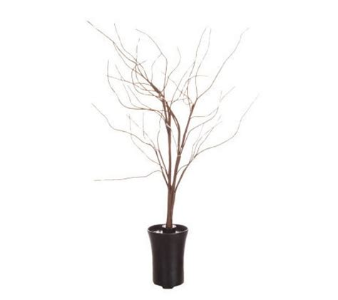 bethlehemlights 43 quot decorative fiber optic twig tree