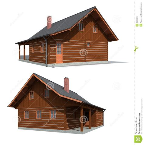 Simple Cabin Floor Plans by Timber Wood House Stock Images Image 23806074