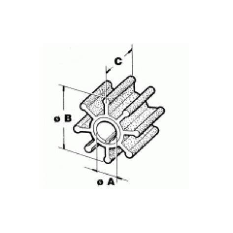 Ac 1 2 Pk Brp impeller omc johnson evinrude buitenboordmotor 382221 sie